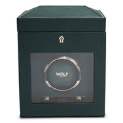 Watch Avenue | The Designer Watch Store Wolf BRITISH RACING GREEN SINGLE WATCH WINDER