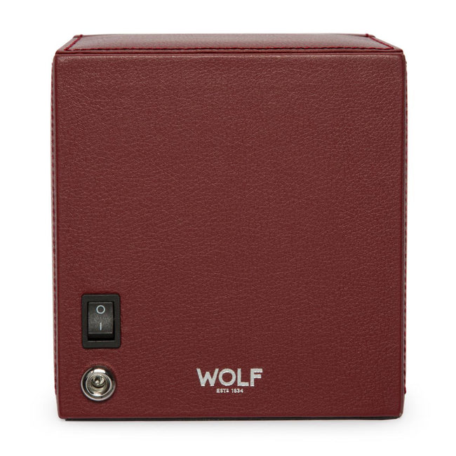 Watchavenueuk Wolf Cub Watch Winder With Cover Bordeaux Pebble 461126