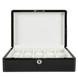 Wolf Watch Box black 10 Piece Fully Wooden Watch Box - Black Gloss Finish