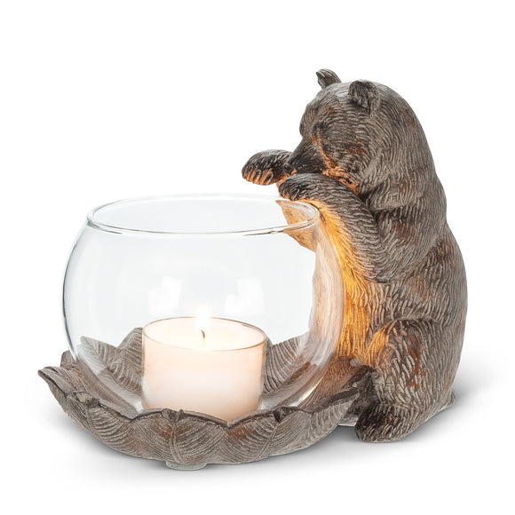 Tealite Holder </br>Paw Up Bear