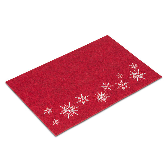Placemat </br>Stitched Snowflakes