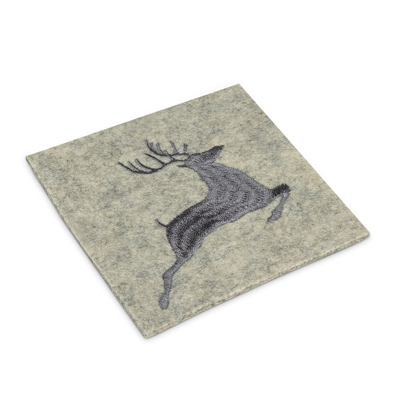 Coaster </br>Stitched Leaping Deer
