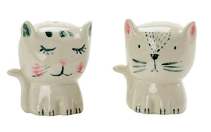 Salt & Pepper </br>White Simple Cats