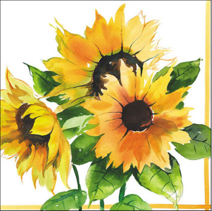 Napkins - Luncheon </br>Sunflowers Girasoli