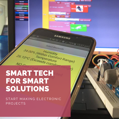 Online tutor taught course: Smart World Robotics - make electronics projects
