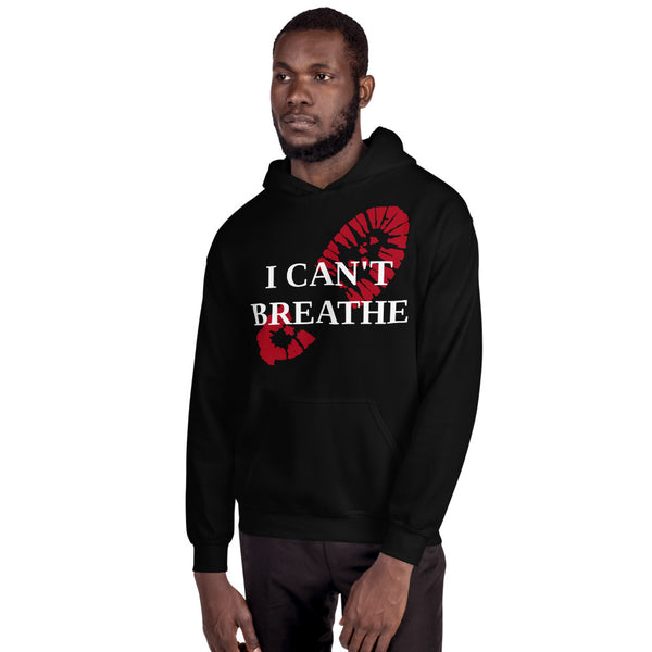 I Can't Breathe Bootprint Unisex Hoodie