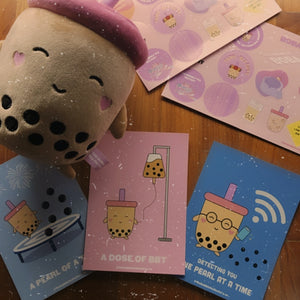 Boba Bae x Postcards Care Pack