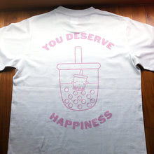 Load image into Gallery viewer, Happiness T-Shirt (White) - Size L left!