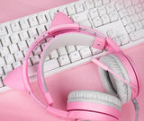 Casque De Gamer - Casque Gamer Rose Chat