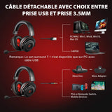 casque gamer PS4 et switch