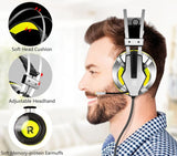 Casque gamer jaune