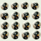 Bassin and Brown Black Labrador Dog Cufflinks