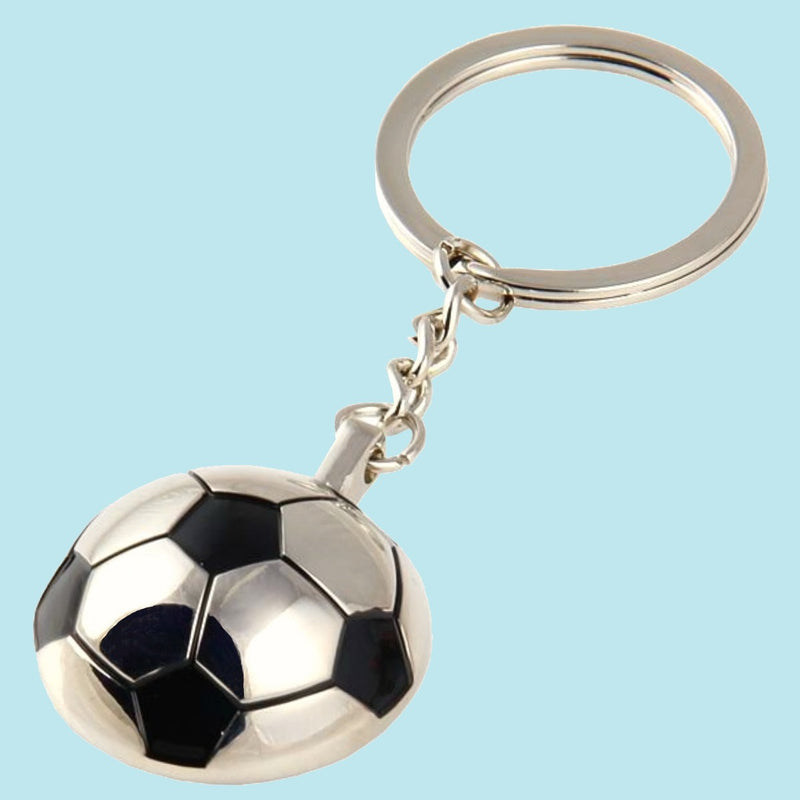 Bassin and Brown - Football Keyring -  Silver and Black