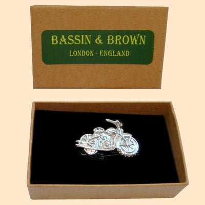 Bassin and Brown Silver Motorbike Tie Bar