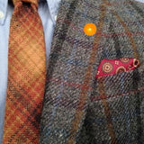 Bassin and Brown Orange Fruit Jacket Lapel Pin