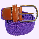 Bassin and Brown Purple Elasticated Woven Belt