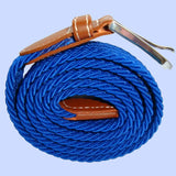 Bassin and Brown Royal Blue Woven Belt