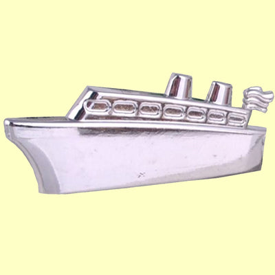 Bassin and Brown Silver Ship Keyring