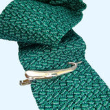 Bassin and Brown Chevron Silk Knitted Tie - Green