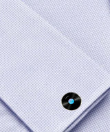 Bassin and Brown Vinyl Disc Cufflinks - Black/Blue