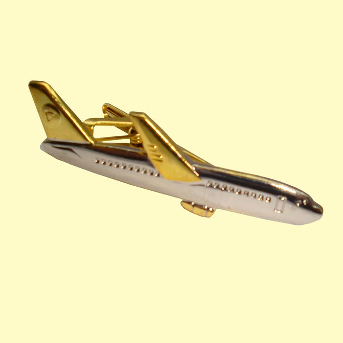 Bassin and Brown  - Airplane Tie Bar - Silver and Gold
