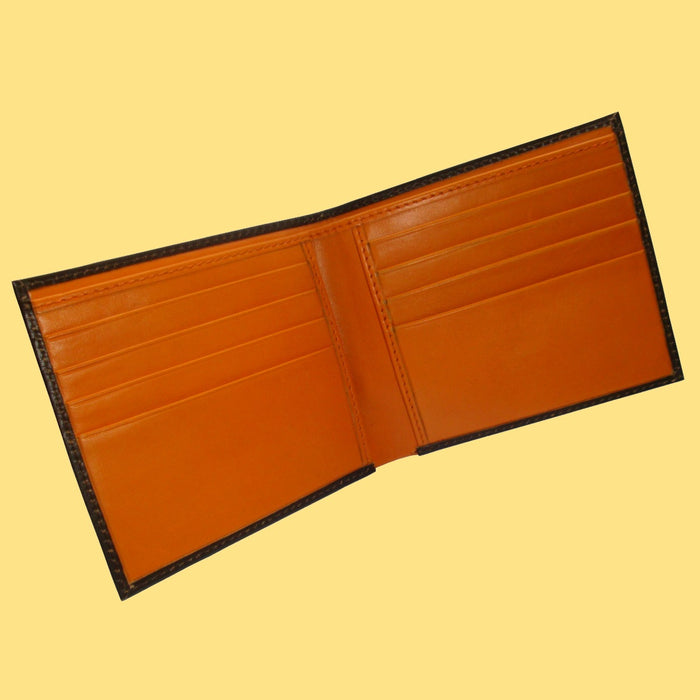 Bassin and Brown Brown/Orange Billfold 8 Card Slot Wallet