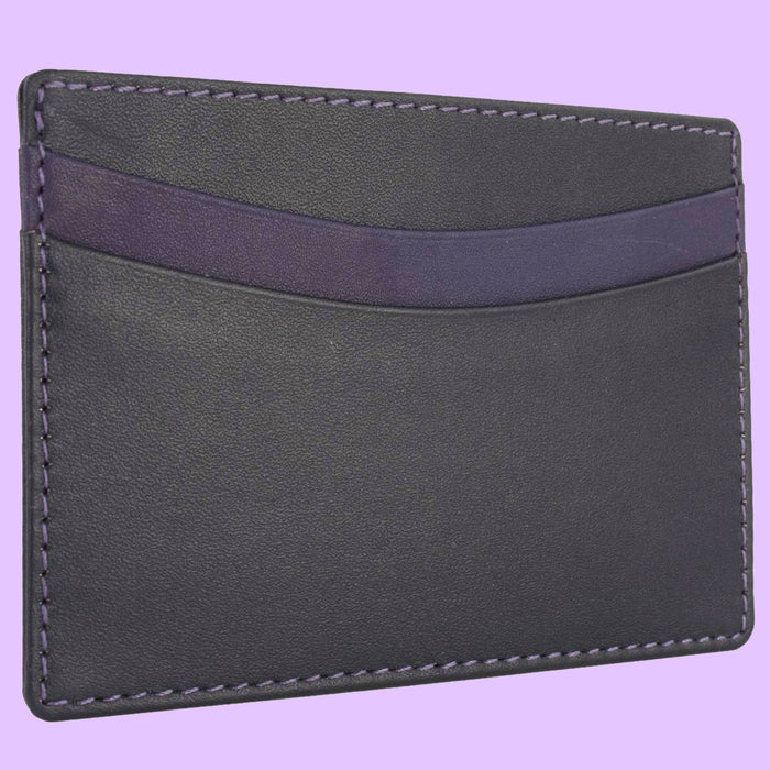 Bassin and Brown Black/Purple Credit Card Holder