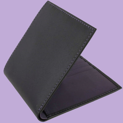 Bassin and Brown Black/Purple Billfold 8 Card Slot Wallet