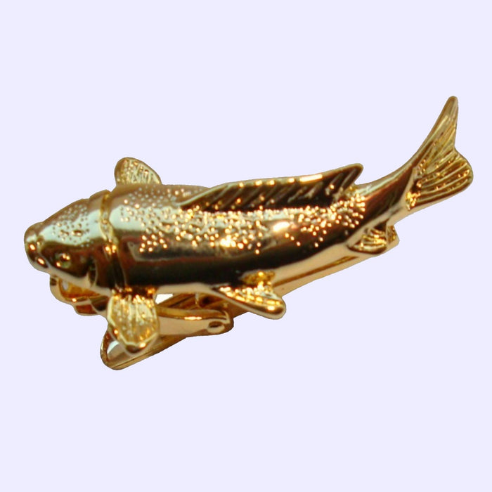 Bassin and Brown Gold Fish Tie Bar