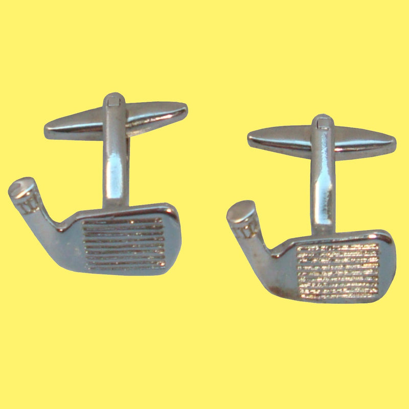 Bassin and Brown Silver Golf Putter Cufflinks