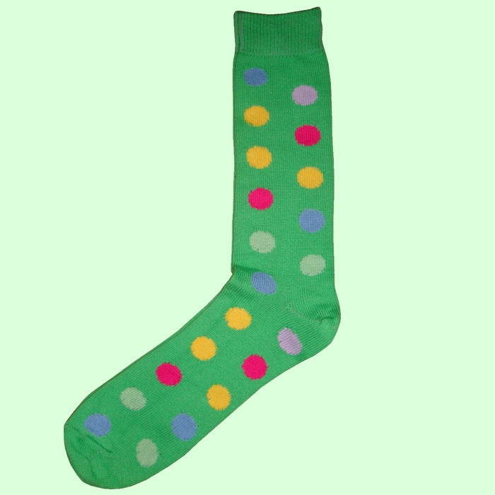 Bassin and Brown Green Spot Cotton Socks