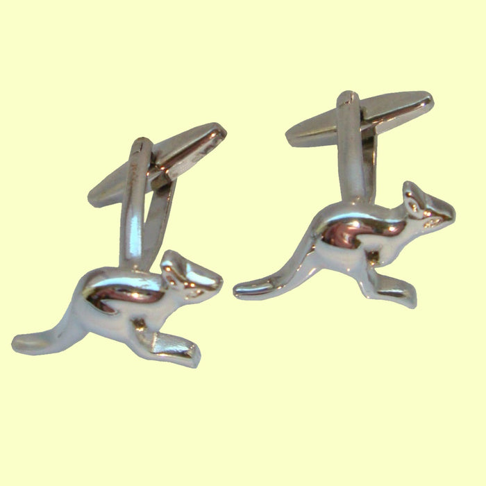 Bassin and Brown Silver Kangaroo Cufflinks