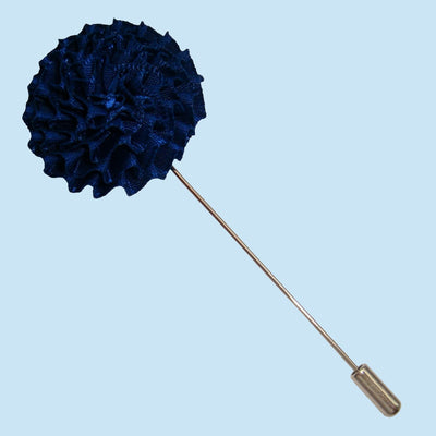 Bassin and Brown Navy Chrysanthemum Flower Jacket Lapel Pin