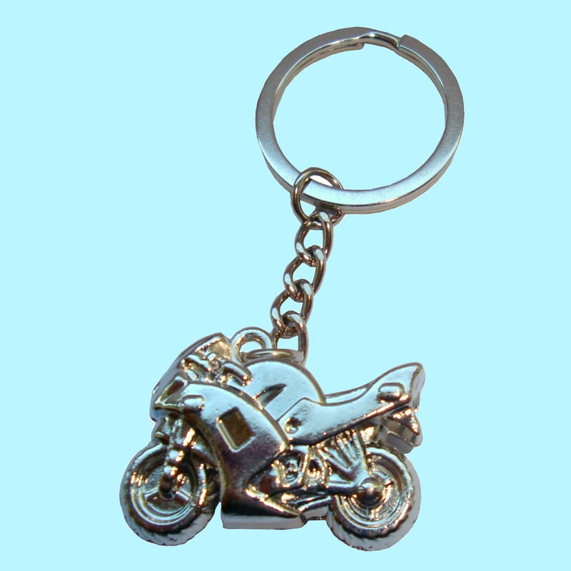Bassin and Brown Silver Motorbike Keyring