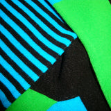 Bassin and Brown Thin Stripe Socks - Blue/Black/Green