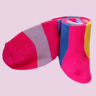 Bassin and Brown Pink Multi Stripe Cotton Socks