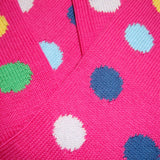 Bassin and Brown Pink Spot Cotton Socks