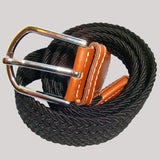 Bassin and Brown Woven Belt Black