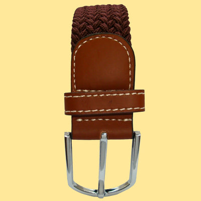 Bassin and Brown Dark Brown Woven Belt - Silver Toned Buckle