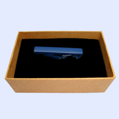 Bassin and Brown Tie Bar - Plain Navy