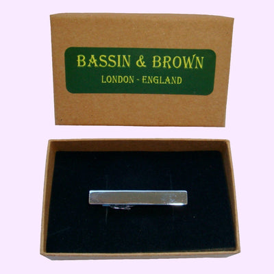 Bassin and Brown Silver Plain Tie Bar