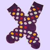 Bassin and Brown Spot Multi Coloured Socks Purple/Lilac/Yellow/Red/White