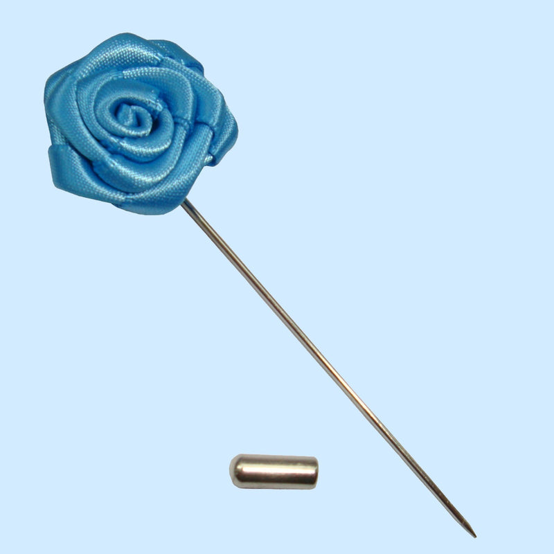 Bassin and Brown Rose Blue Jacket Lapel Pin