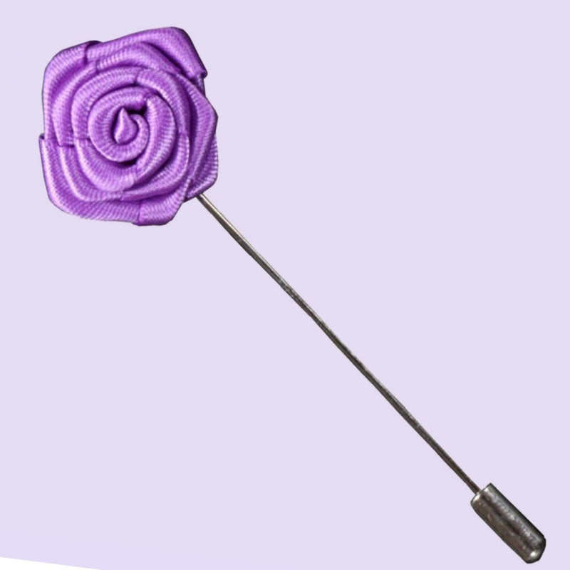 Bassin and Brown Lilac Rose Jacket Lapel Pin