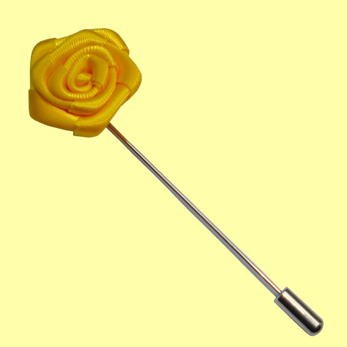 Bassin and Brown Yellow Rose Jacket Lapel Pin