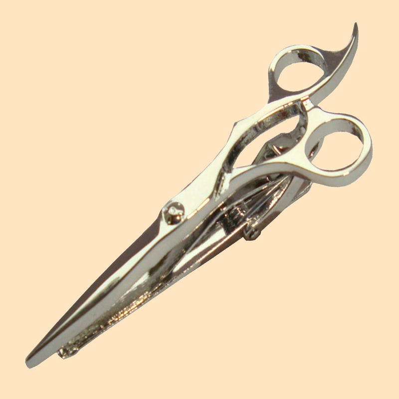 Bassin and Brown Scissors Silver Tie Bar