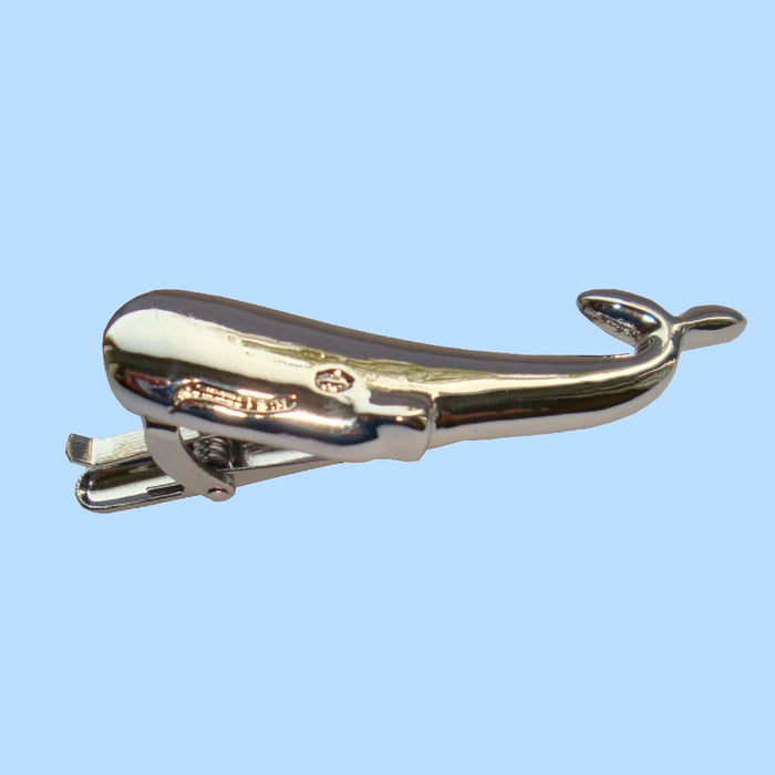 Bassin and Brown - Whale Tie Bar - Silver