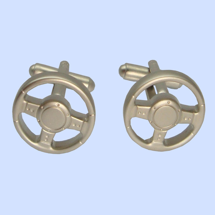 Bassin and Brown Steering Wheel Cufflinks