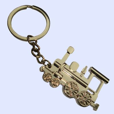 Bassin and Brown Silver Steam Train Keyring