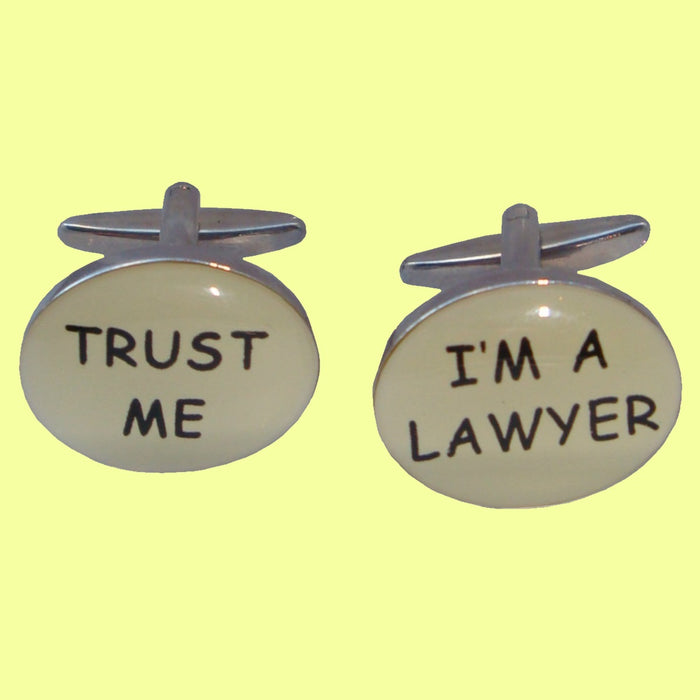 Bassin and Brown - Trust Me I'm A Lawyer Cufflinks - Silver